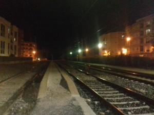 """Imágenes de la estación de Cambrils cortada al tráfico ferroviario a consecuencia de """"Bruno"""". Foto tomada por Héctor Lumbreras de Cámara Crítica"""
