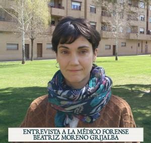 Fotografía de la Médico Forense Beatriz Moreno Grijalba.