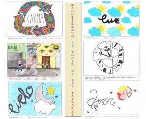 Mutifoto con algunos de los diseños de nuestros compañeros.
