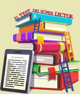 """Logo de nuestra sección literaria: """"El test del súper lector""""."""