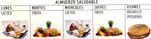 organización semanal del Almuerzo saludable./ ILUSOLE