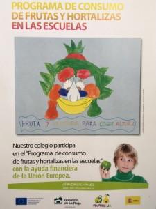 Cartel Almuerzo Saludable./ ILUSOLE