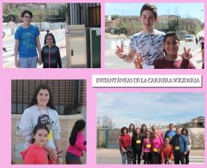 """Fotos de las """"parejas"""" que han participado en la Carrera Solidaria."""