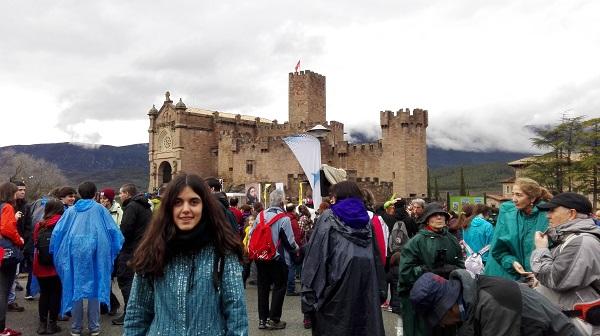 Carmen Lalinde en el Castilo de Javier