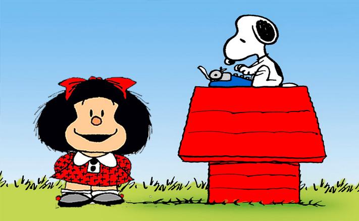 Mafalda y snoopy