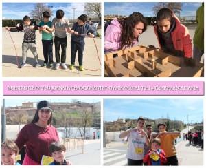 Instantáneas de la gymkana del T.E.I. (Programa Educativo para la prevención de la violencia y el acoso escolar) + la Carrera Solidaria.